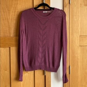 Urban outfitters wine colored, knit sweater!